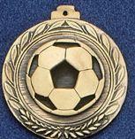 """2.5"""" Stock Cast Medallion (Soccer Ball)"""