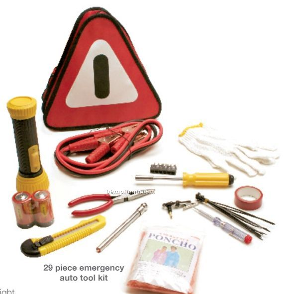 29 Piece Roadside Emergency Bag