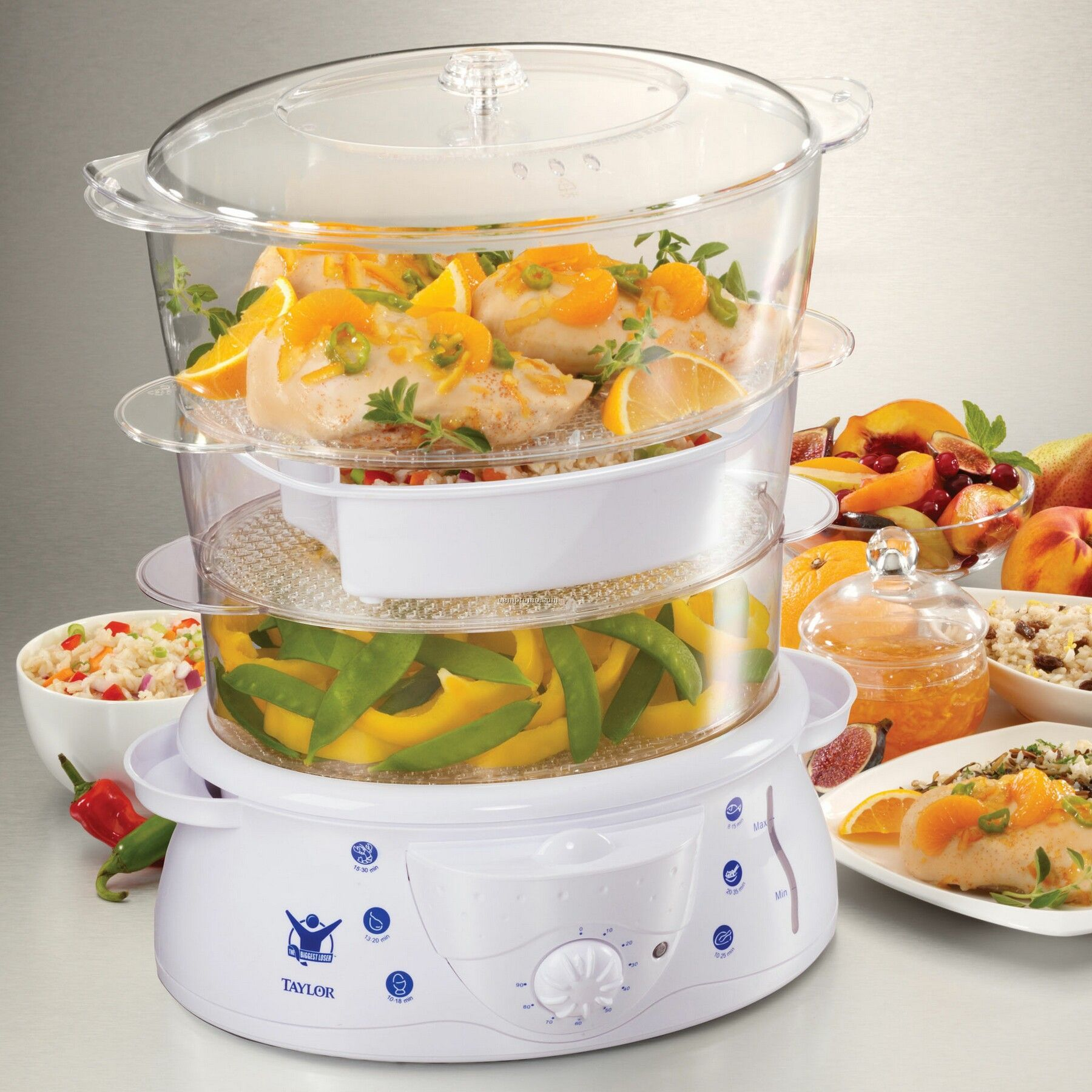 Biggest Loser 700 Watt Three Tier Steamer