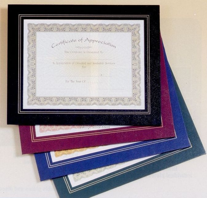 """Black Leatherette 10 3/4""""X13"""" Frame For 8 1/2""""X11"""" Certificate"""