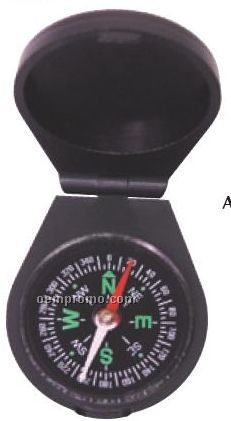 Black Plastic Liquid-filled Compass With Cover