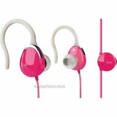 Iluv Ultra Compact In-ear Clips With Volume Control - Pink