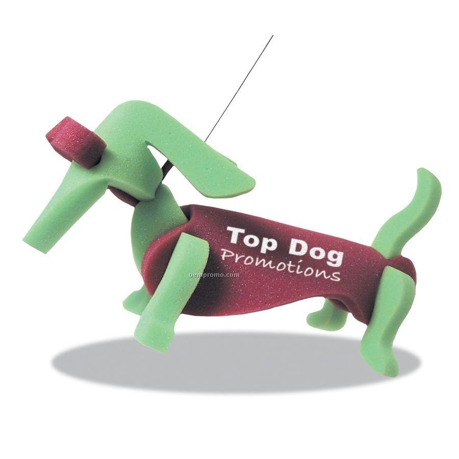 Weiner Dog On A Leash