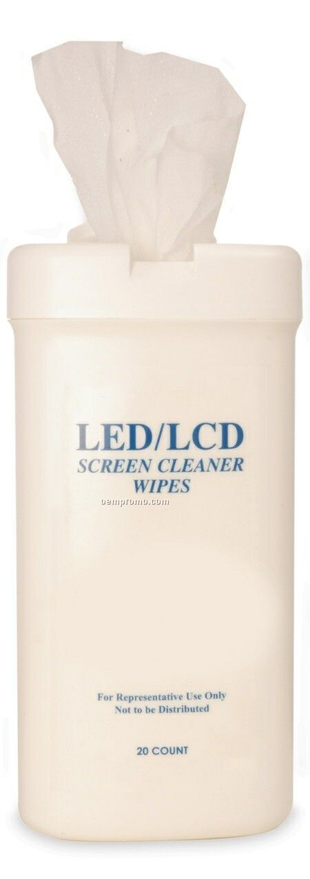 20 Count LED/ Lcd Screen Cleaner Wipes Canister