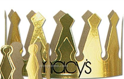 "Imprinted Gold Foil 6 1/2"" Crown"