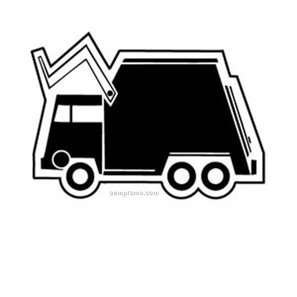 Stock Shape Collection Trash Truck 4 Key Tag