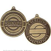 "1-1/2"" Brass Partnership Series Medal/ Coin (Service)"