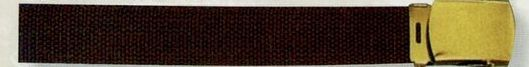 "Brown Web Belt (44"")"