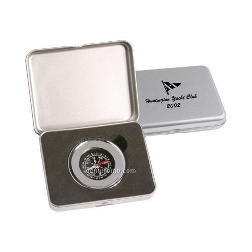 Chrome Plated Compass Paperweight