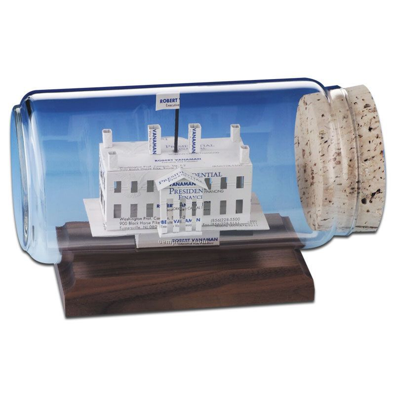 Stock Business Card Sculpture In A Bottle - The White House,China ...