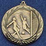 """1.5"""" Stock Cast Medallion (Soccer/ Female)"""