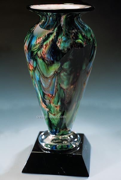 """Jade Glen Athena Vase W/ Marble Base (3.75""""X9"""")"""