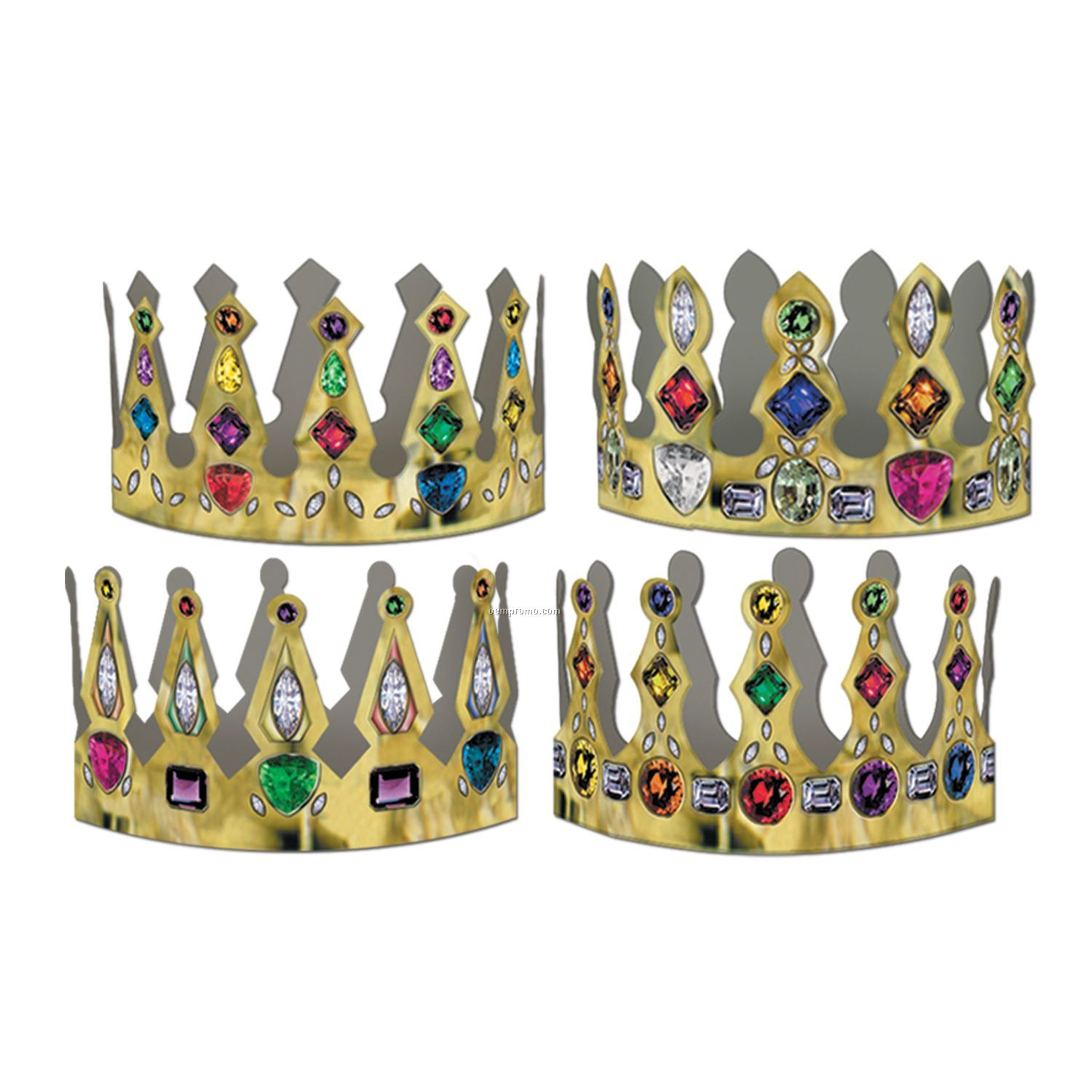 Printed Jeweled Crowns