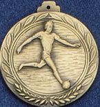 "2.5"" Stock Cast Medallion (Soccer Player/ Male)"