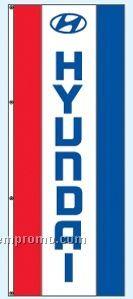 Double Face Dealer Rotator Drape Flags - Hyundai