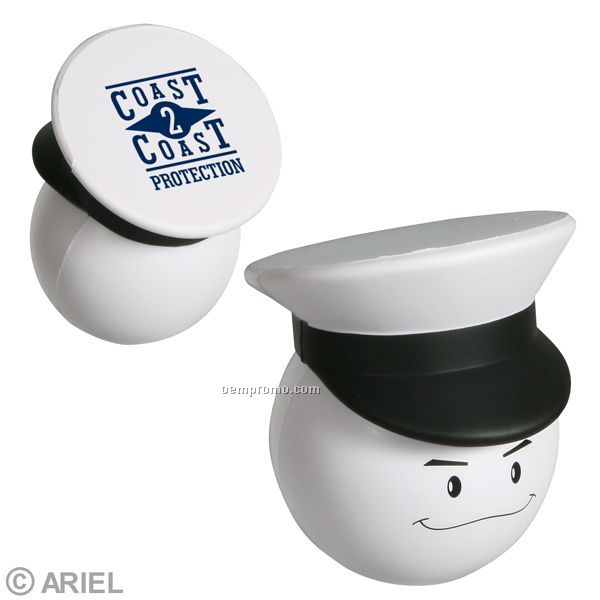 Navy Officer Mad Cap Squeeze Toy