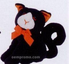 Stock Halloween Stuffed Black Cat