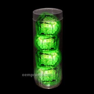 green 3mode light up ice cubes 4 pack