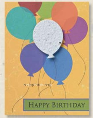 Happy Birthday Card With Balloon Seed DecorationChina Wholesale