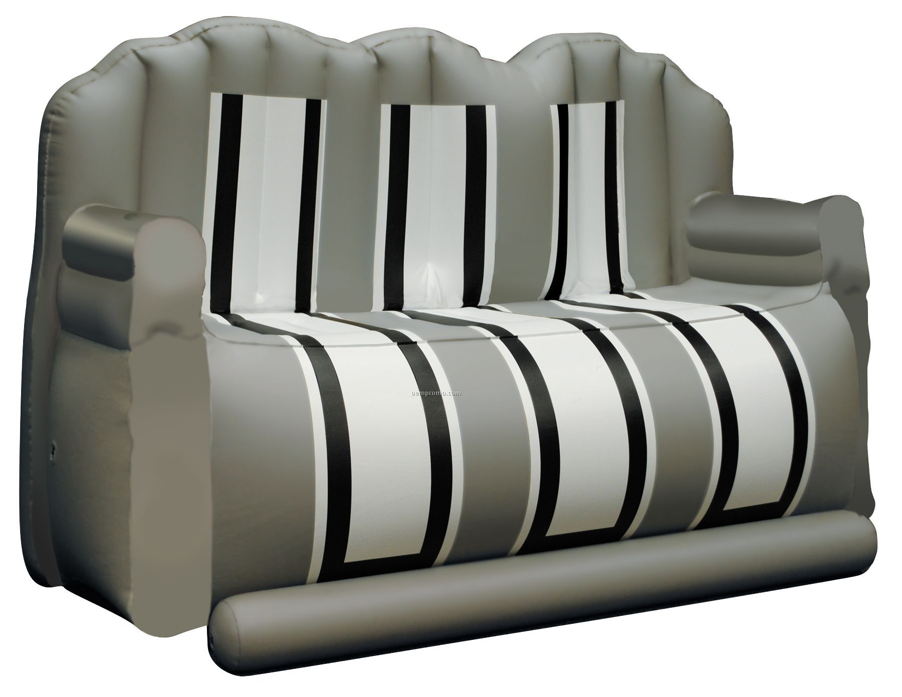 """Inflate-a-seat """"Couch"""": Gray/White/Black"""