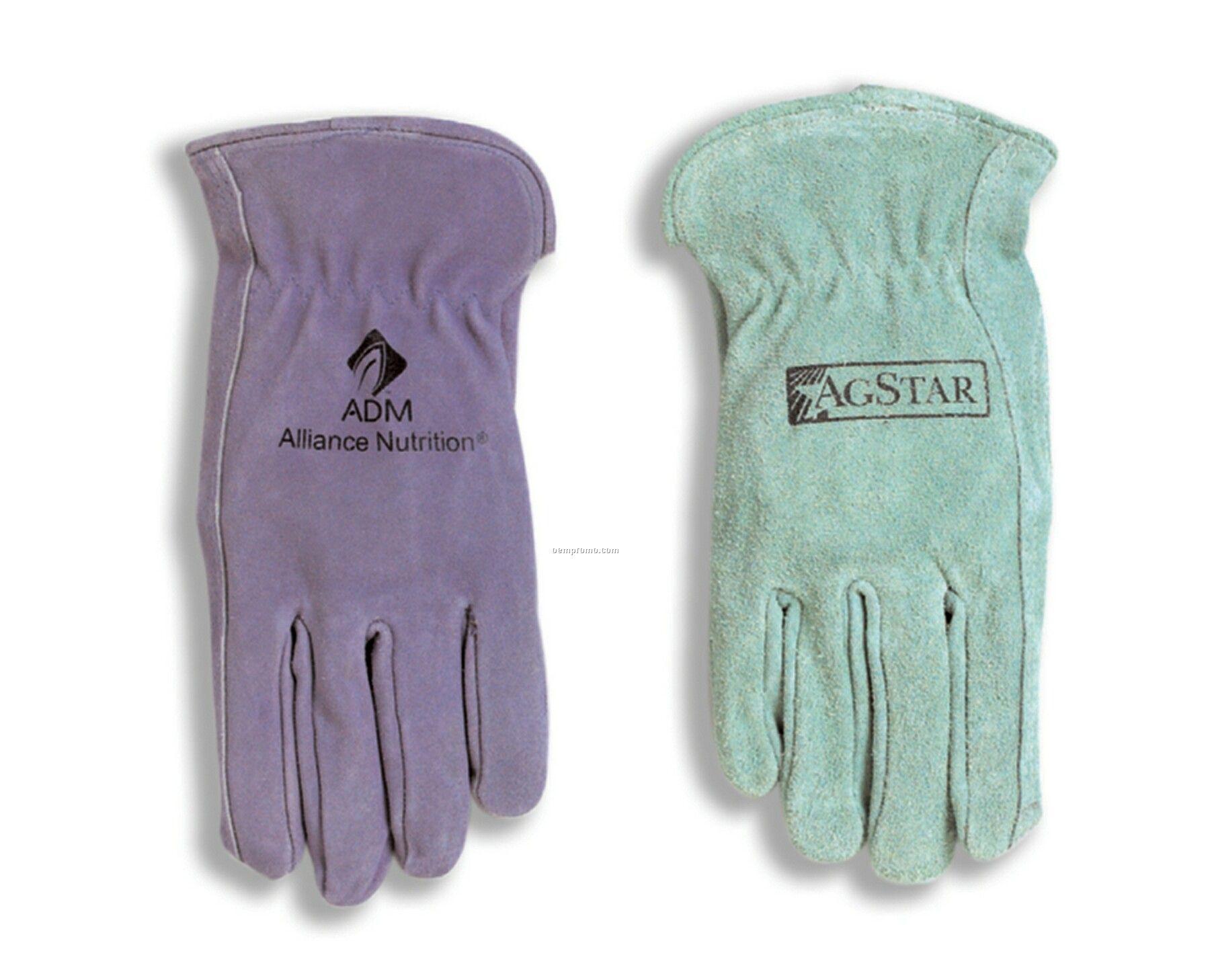 Ladies Split Leather Cowhide Glove With Keystone Thumb