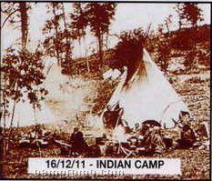 "11""X14"" Early American Tin Type Print - Indian Camp"