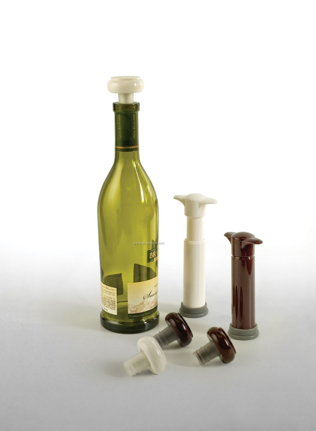 Boxed Vinovac Wine Saver System With Pump & Bottle Stoppers