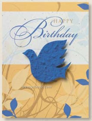 Happy Birthday Card With Bird Seed Decoration