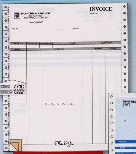 Parchment Continuous Invoice (4 Part)