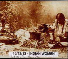 """11""""X14"""" Early American Tin Type Print - Indian Women"""