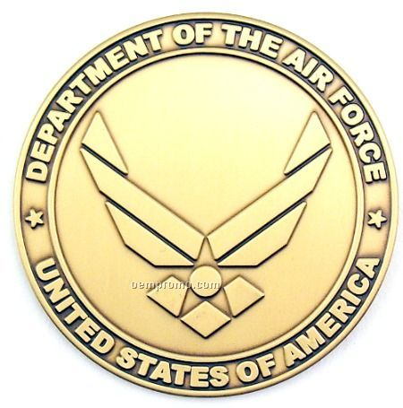 """2-1/2"""" Military Seal/ Coin (New Dept Of The Air Force-eagle) Brass"""