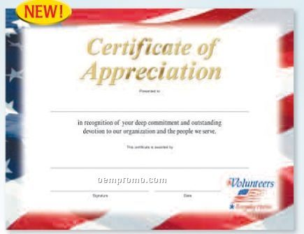 Blank Certificates of Appreciation Templates