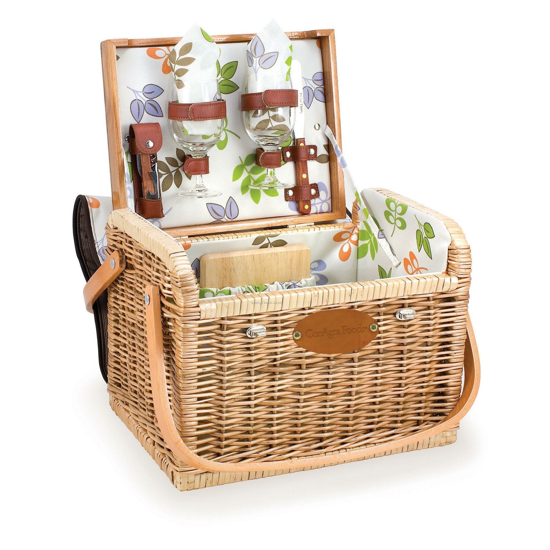 Best Picnic Basket For 2 : Kabrio botanica quot picnic basket w wine cheese svc