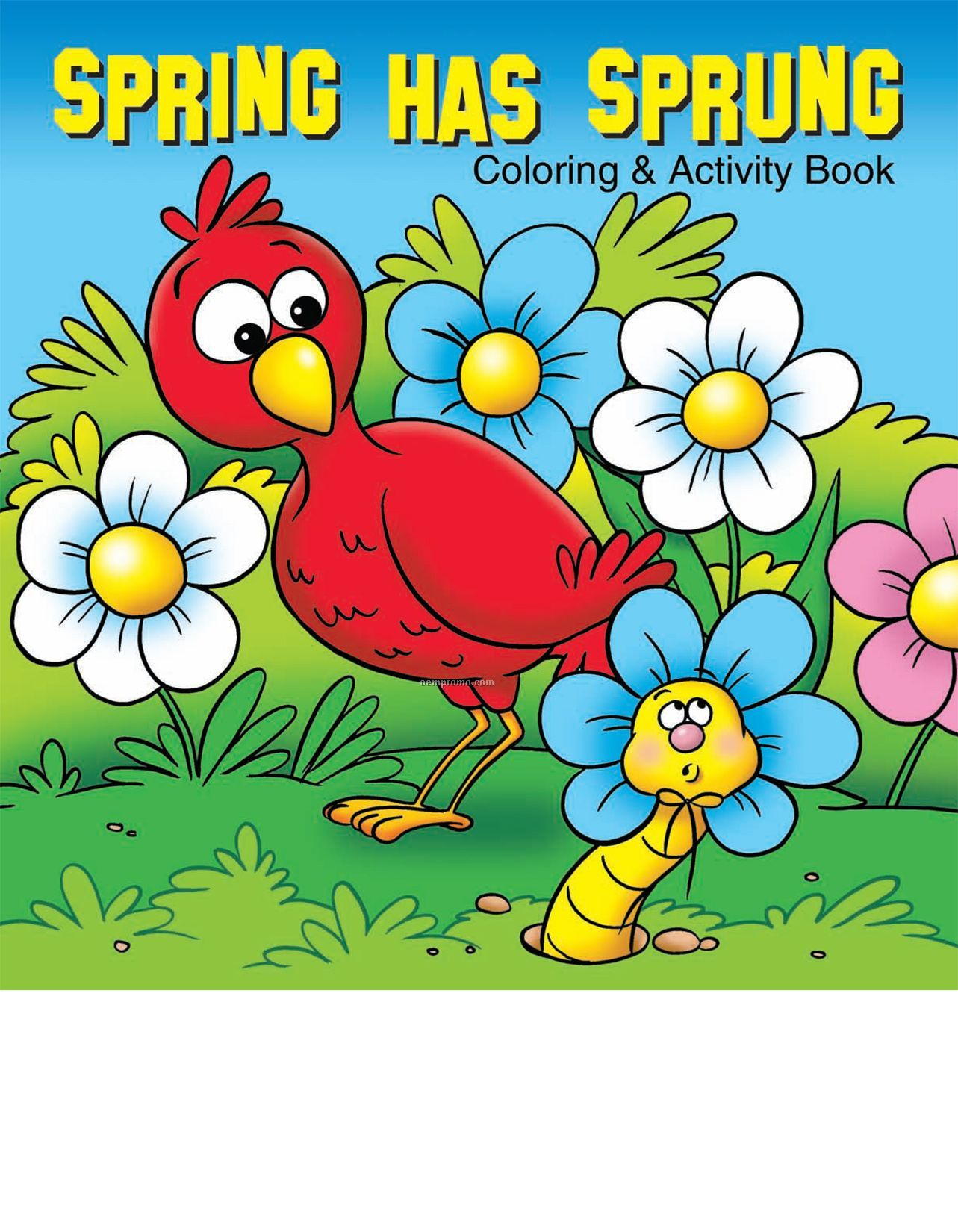 Spring Has Sprung Coloring Book Fun Pack
