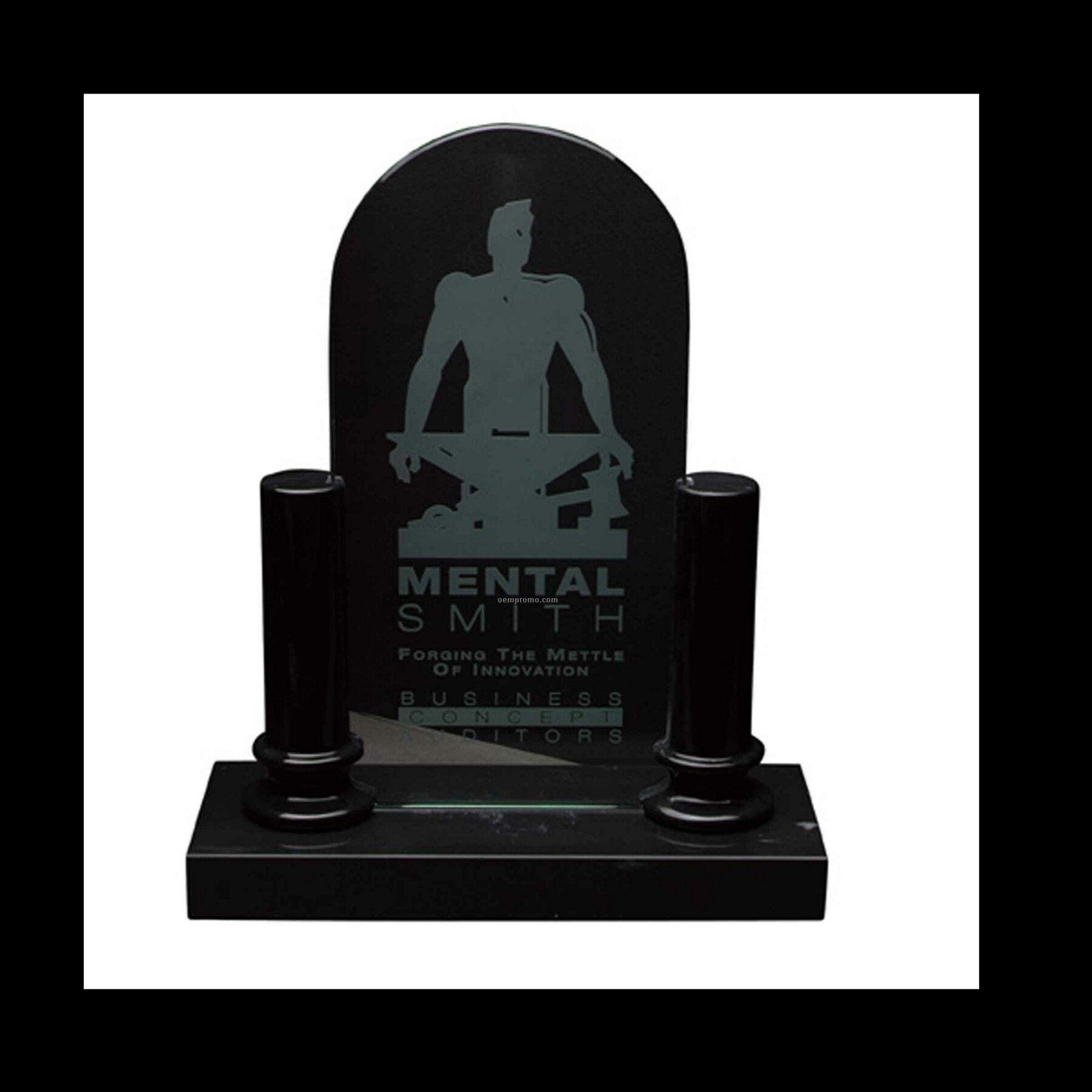 "6-1/4"" Black Marble Pillar Award"