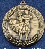 "2.5"" Stock Cast Medallion (Square Dance)"