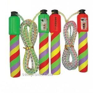 Jump Rope W/Counter - Stripe Handles