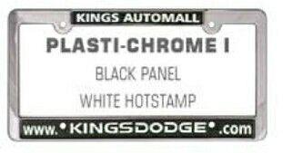 Plasti-chrome I Metallic Frame W/ Raised Letters (Hot Stamped)