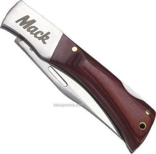"Wood Handle Knife (3 5/8""X7/8"")"