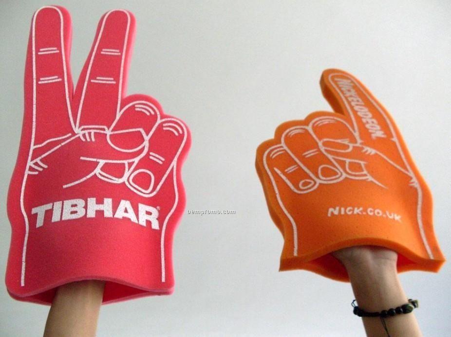 Foam Cheering Hand W/2 Fingers