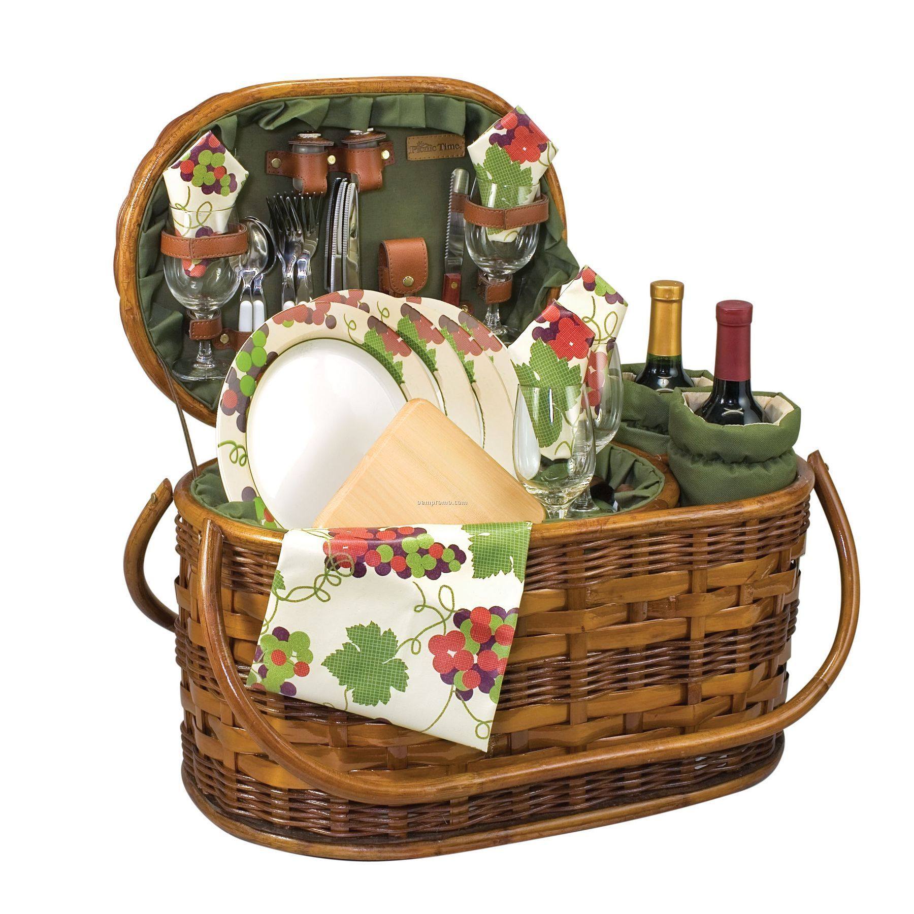 Cheap Picnic Basket For 4 : Merlot quot deluxe oval picnic basket w svc for grape
