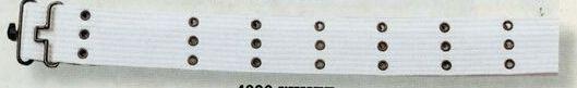 White Canvas Military Pistol Belt W/ Metal Buckle