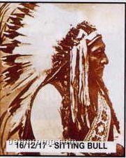 """11""""X14"""" Early American Tin Type Print - Sitting Bull"""