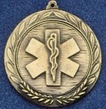 "2.5"" Stock Cast Medallion (Star Of Life)"