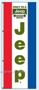 Double Face Dealer Rotator Drape Flags - Only In A Jeep