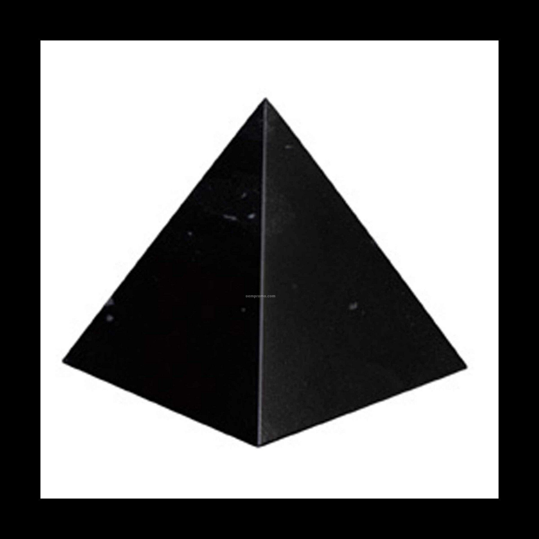 Small Pyramid Award - Jet Black
