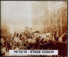 """11""""X14"""" Early American Tin Type Print - Stagecoach"""