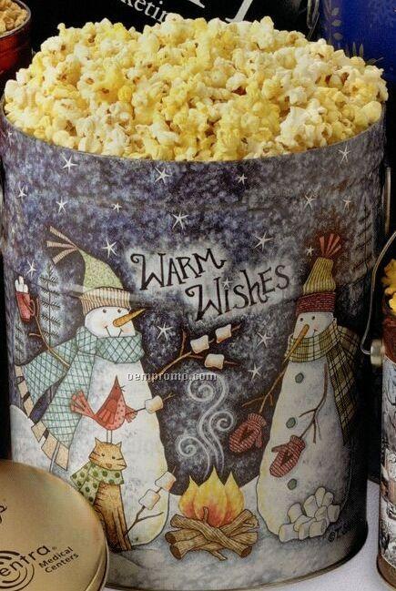 6-1/2 Gallon Caramel Designer Popcorn Tin