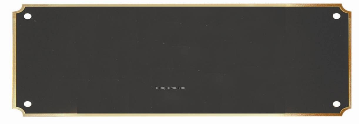 """Blank Perpetual Plaque Plates With A Gold Border (3"""" X 7"""")"""