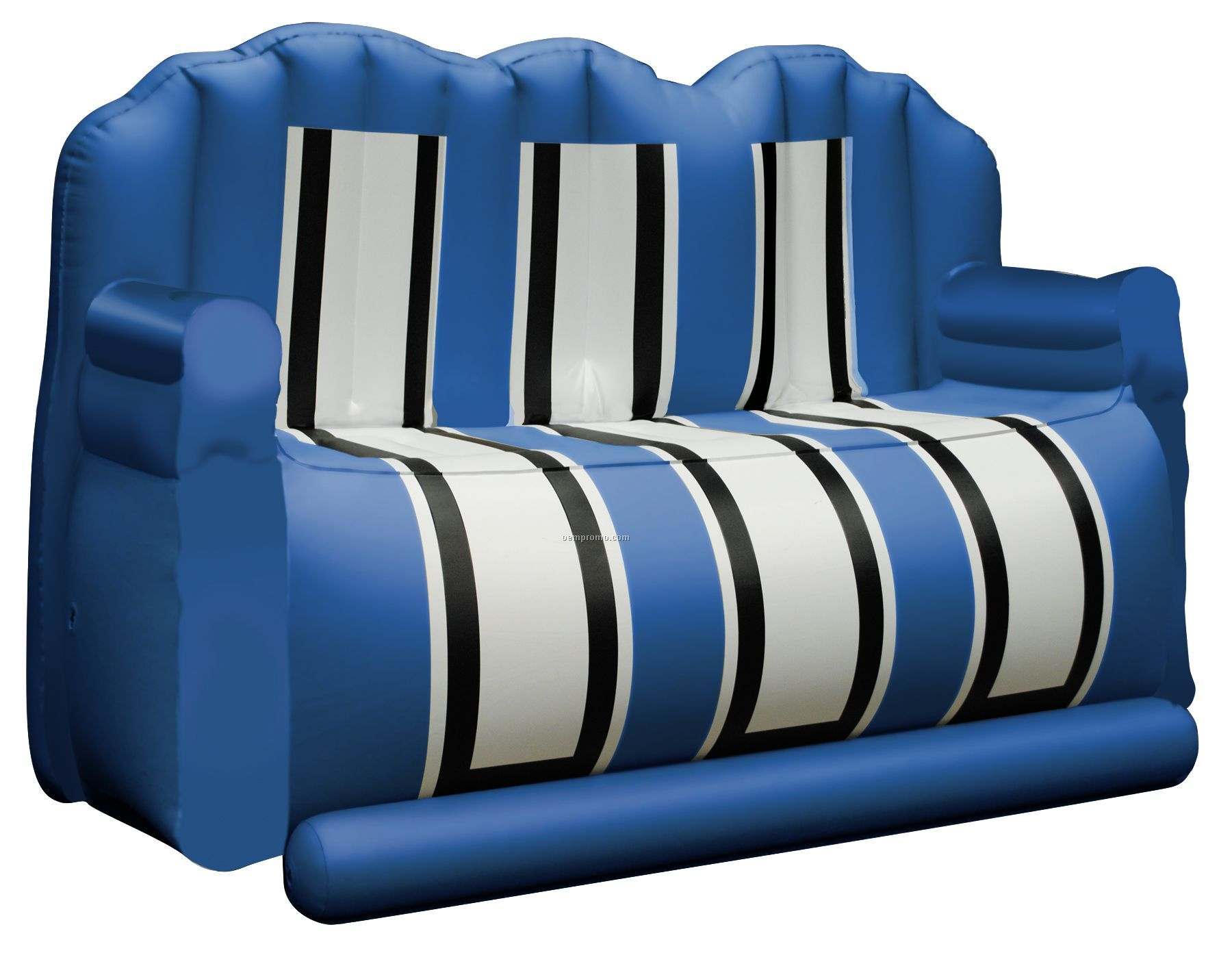 """Inflate-a-seat """"Couch"""": Blue/White/Black"""